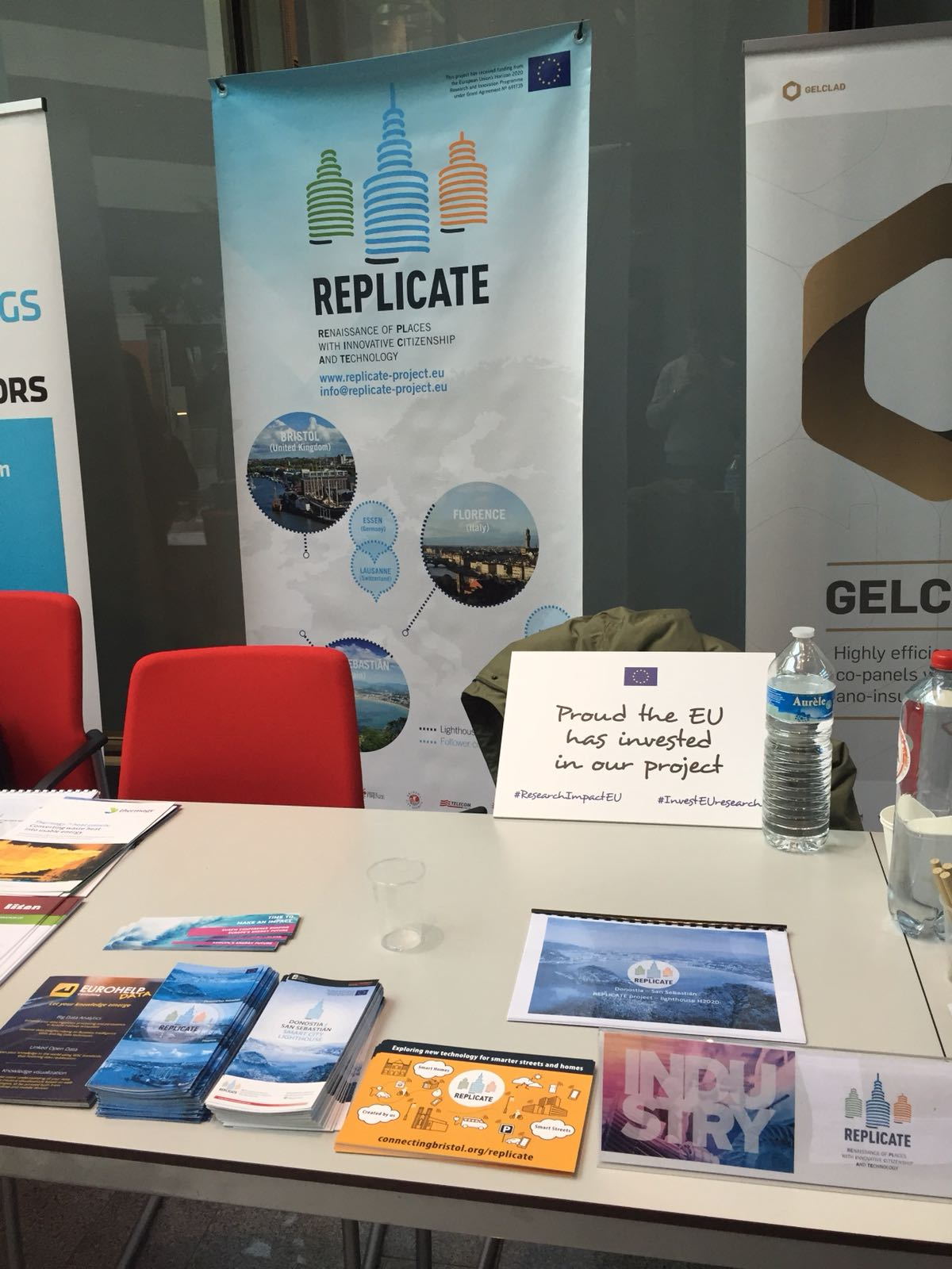 Replicate EU Industry Day exhibition stand