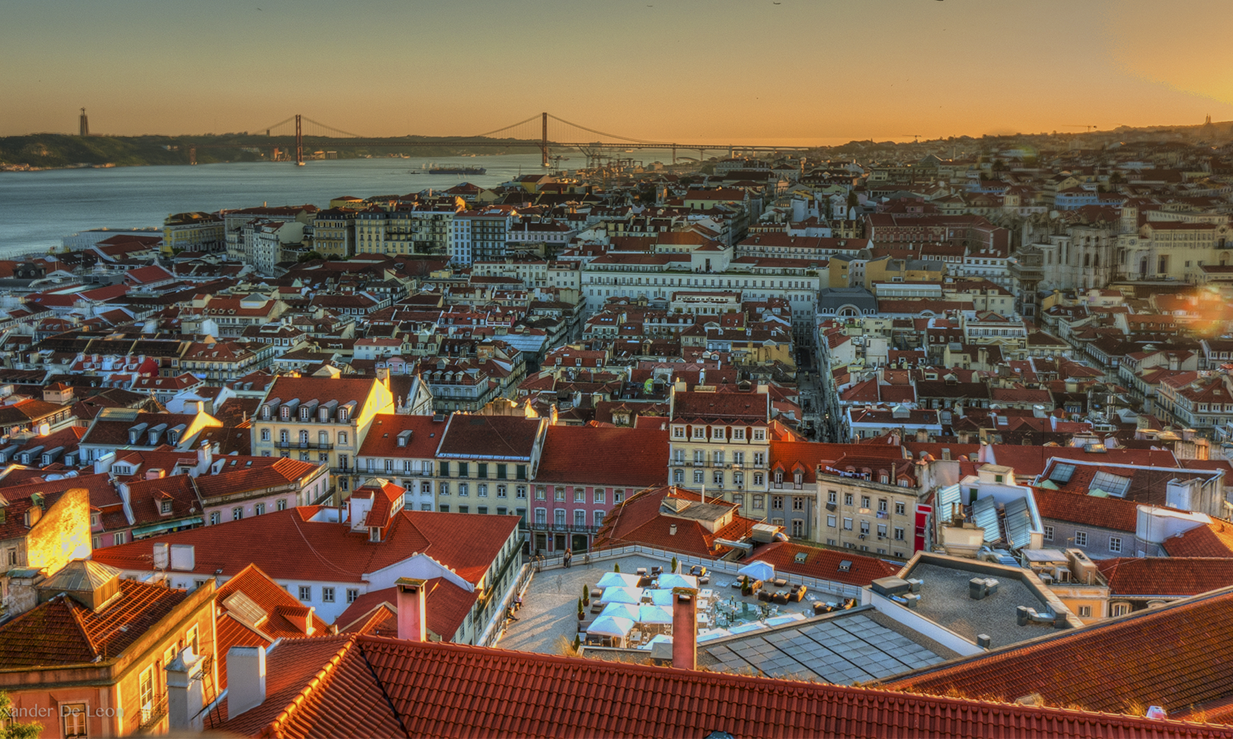 View of the capital city of Lisbon